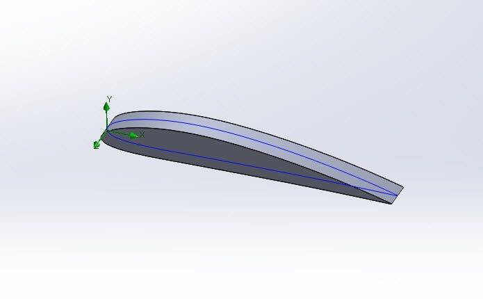 solidworks_simulation_extruded_wing_profile