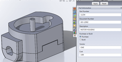 SOLIDWORKS Tab Builder