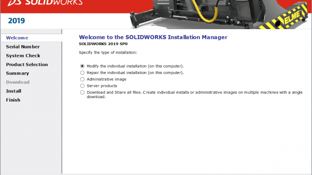 Modifying SOLIDWORKS Installation