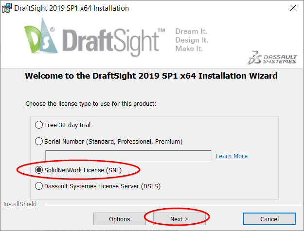 Draftsight Enterprise Installation