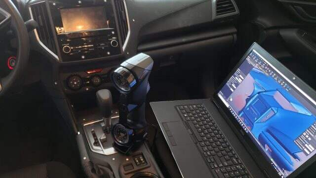 3D Scanning a car dashboard