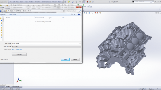 Saving an STL file in Solidworks