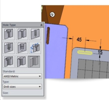 SolidWorks-2014-Slot Hole