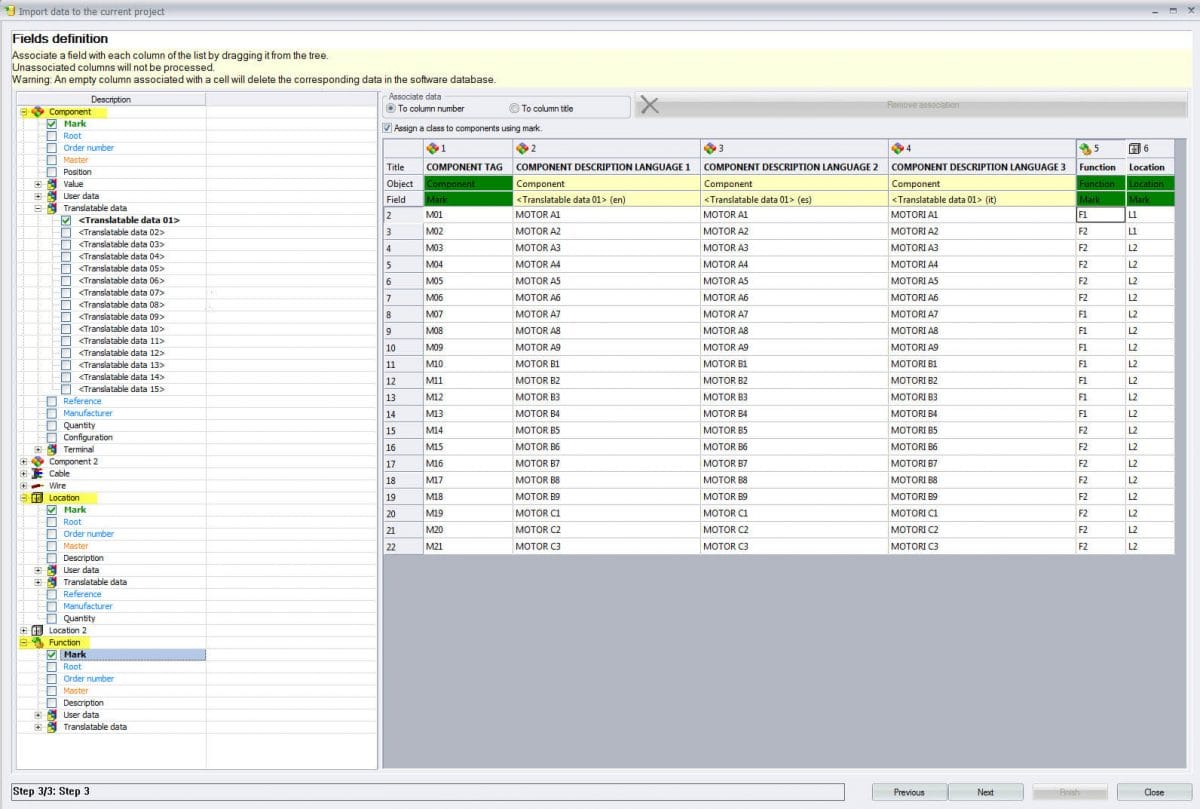 Components functions locations elecworks