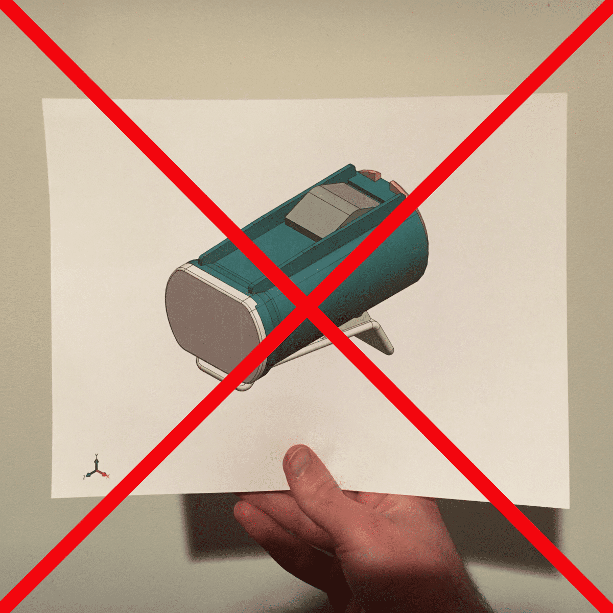 Printed assembly